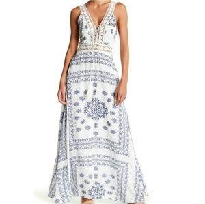 Romeo & Juliet Couture Maxi Crochet Lace Dress